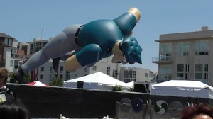 Giant Axe Cop float at San Diego Comic-Con 2013.