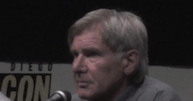 Harrison Ford on the 'Ender's Game' panel at San Diego Comic-Con 2013.