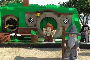 Lego replica of Bilbo Baggins' home Bag End from 'The Hobbit' at San Diego Comic-Con 2013