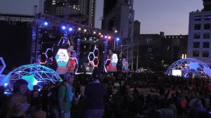 Main stage for MTV2 Party in the Park celebration at San Diego Comic-Con 2013.