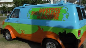 The Scooby-Doo Mystery Machine van in real life at San Diego Comic-Con 2013!