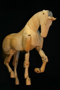 Horse mannequin piaffe