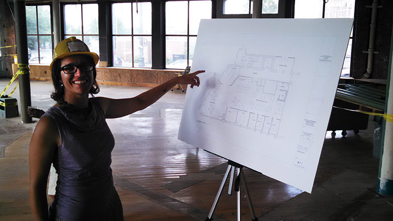 External Relations Director Caroline J. Mailloux, excited about plans for the Greenhouse space