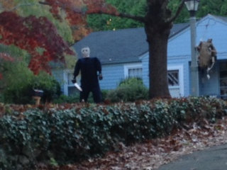 My neighbor's lawn.  Ok, so maybe Michael Meyers is a genuine threat.
