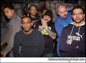 Left to right: Mike Boston, Lex_Supa, Paper Boy, Bx Young Gz, K-Vinyl, Nahbi Reality