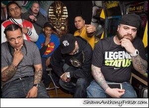 Left to right: Paper Boy, Rick Spades, K-Vinyl, Lex_Supa, Nahbi Reality, Mike Boston, Bx Young Gz