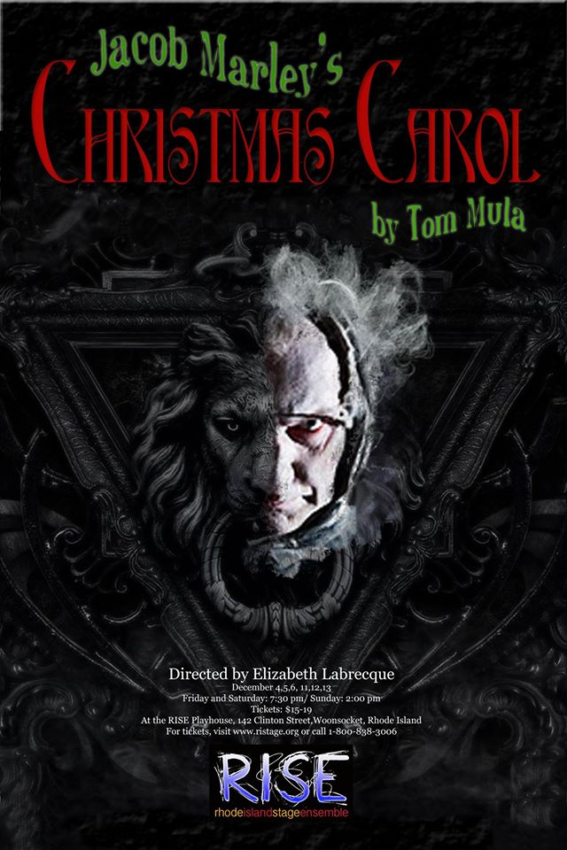 an impressively minimalist take on a very familiar story jacob marleys christmas carol written by playwright tom mula and performed by the rhode island - When Was A Christmas Carol Written