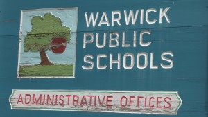 Warwick school sign