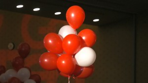 Go Red balloons