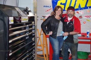 Cheryl and Ron Long, owners of Gearhead Systems, in the service bay. (Photo: Michael Bilow)