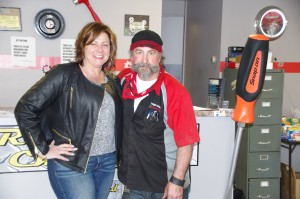 Cheryl and Ron Long, owners of Gearhead Systems, at the front counter. (Photo: Michael Bilow)
