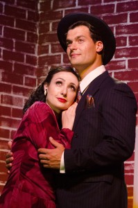 Kerry Giorgi is Holly Golightly and Nick Doig is Jose in Breakfast at Tiffany's.  Now playing at 2nd Story Theatre.
