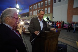 Pawtucket Mayor Donald Grebien speaks (Photo: Michael Bilow)