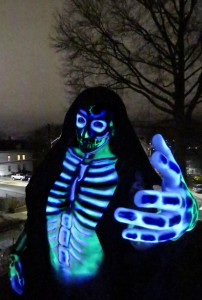 The Glowing Reaper Makeup: Ray Zombie Model: Ella Puck (Photo: Ray Zombie)