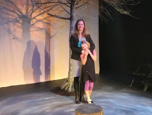 Waiting for Godot director Valerie Remillard with her 8 year-old daughter Annika (Photo: Counter-Productions Theatre Company)