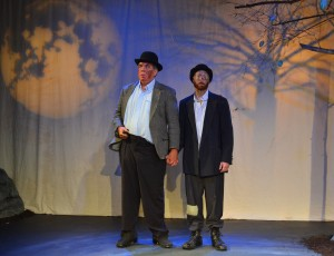"Waiting for Godot at Counter-Productions Theatre Company: (L-R) Geoff Leatham as ""Estragon,"" Dan Fisher as ""Vladimir"" (Photo: Counter-Productions Theatre Company)"