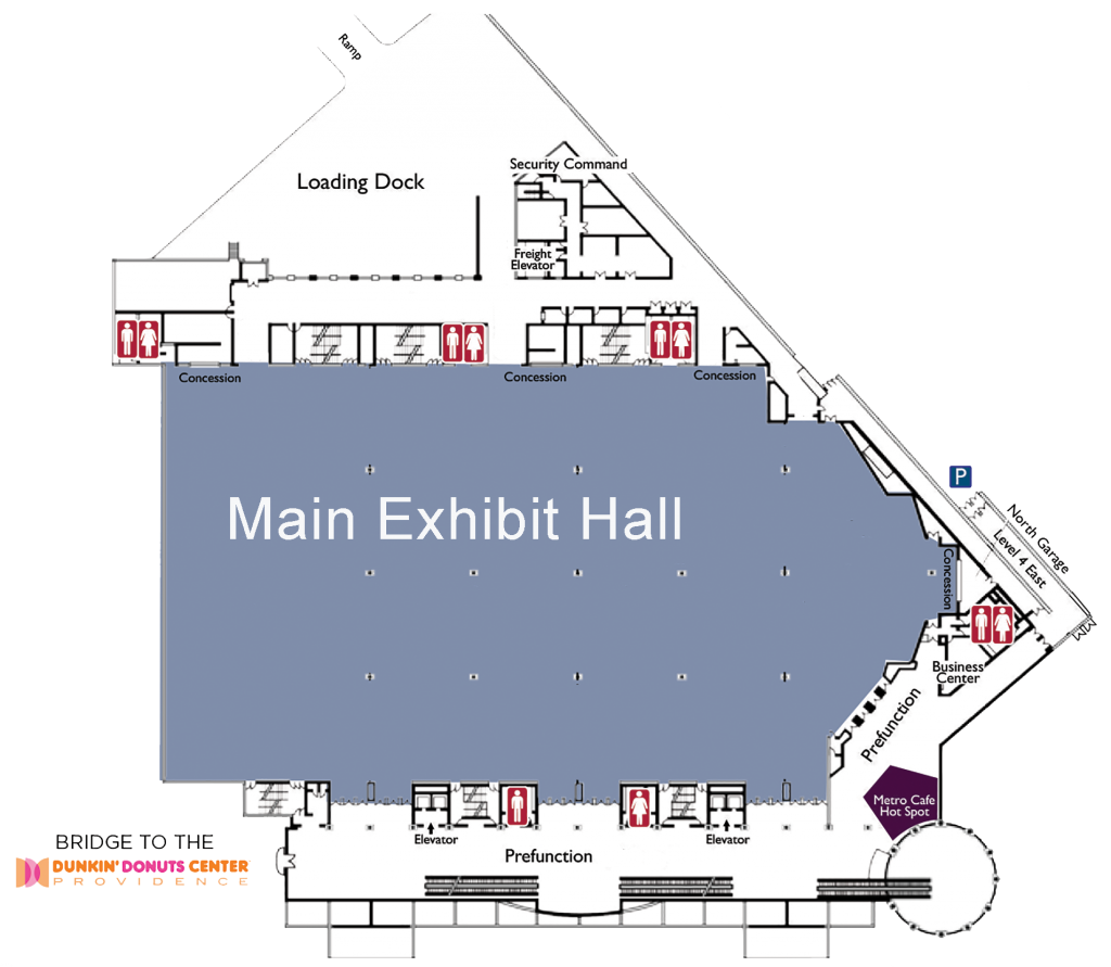 Map of the third floor of the RI Convention Center
