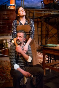 Top: Rachel Dulude as Sonya. Bottom: Tony Estrella as Uncle Vanya (Courtesy: Gamm Theatre; Photo: Peter Goldberg)