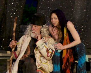 Bob Colonna (Prospero) with Lauren Annicelli (Ariel) Photo by Richard Boober