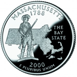 "Massachusetts state quarter showing ""minute man."" (Photo: US Mint, public domain)"