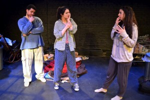 L-R: Rudy Rudacious as Eddie, Victoria Ezikovich as Isabella, Jenn Shammas as Karen, from Isabella. (Photo: CPTC)