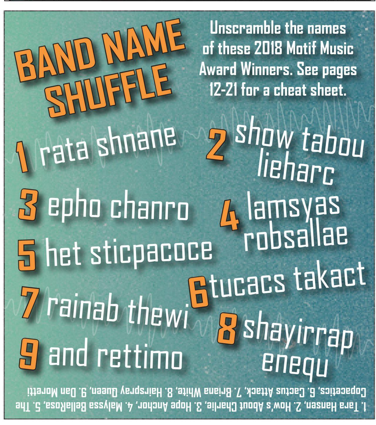 2018 Music Awards Trivia: Band Name Shuffle › Providence
