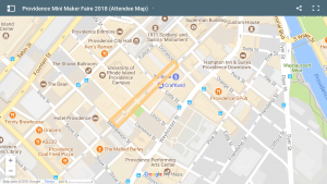 Providence Mini-Maker Faire: 2018 location map