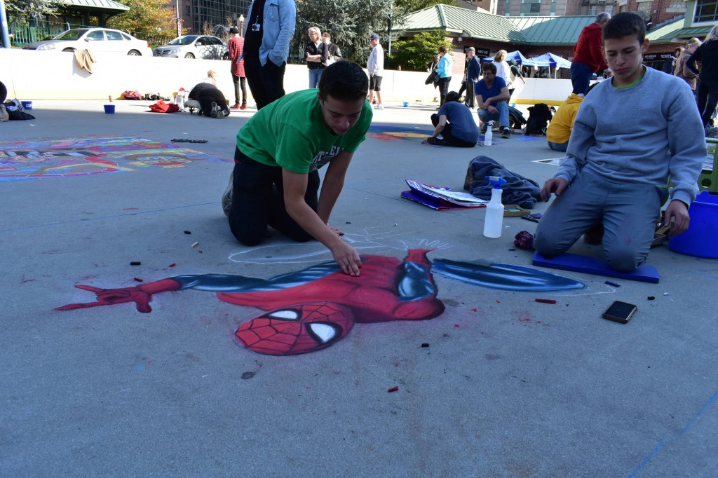 "Providence Street Art Festival (Oct 20, 2018): ""Spider-Man"" by Benjamin and Simon Rees (Photo: Cristina Berrios)"