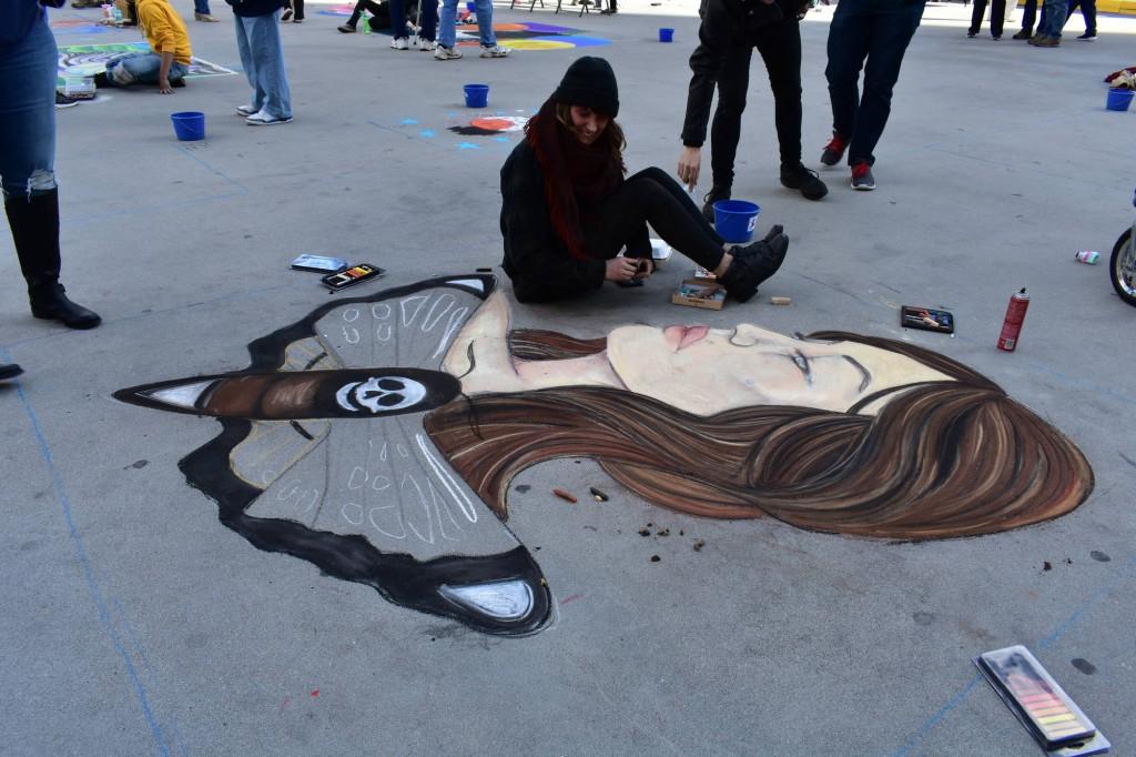"Providence Street Art Festival (Oct 20, 2018): ""#MeToo Movement"" by Emily Cardone (Photo: Cristina Berrios)"