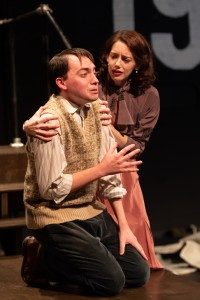 """Patrick Mark Saunders as """"Duncan Pearce"""" and Erin Eva Butcher as """"Viv Pearce"""" in The Night Watch. (Photo: Gamm Theatre)"""