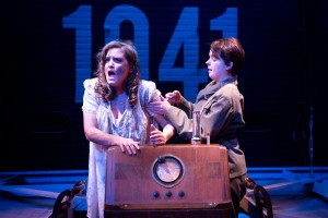 """Rachel Dulude as """"Helen Giniver"""" and Gillian Mariner Gordon as """"Kay Langrish"""" in The Night Watch (Photo: Gamm Theatre)"""
