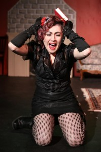 Vivienne Carrette in the title role of Lizzie Borden, Lizzie Borden at Epic Theatre. (Photo: Dave Cantelli)
