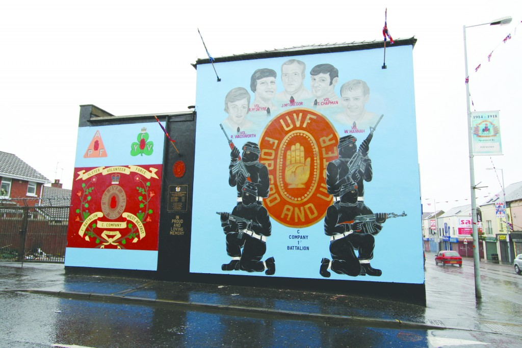UVF murals on the Shankhill Road in Belfast