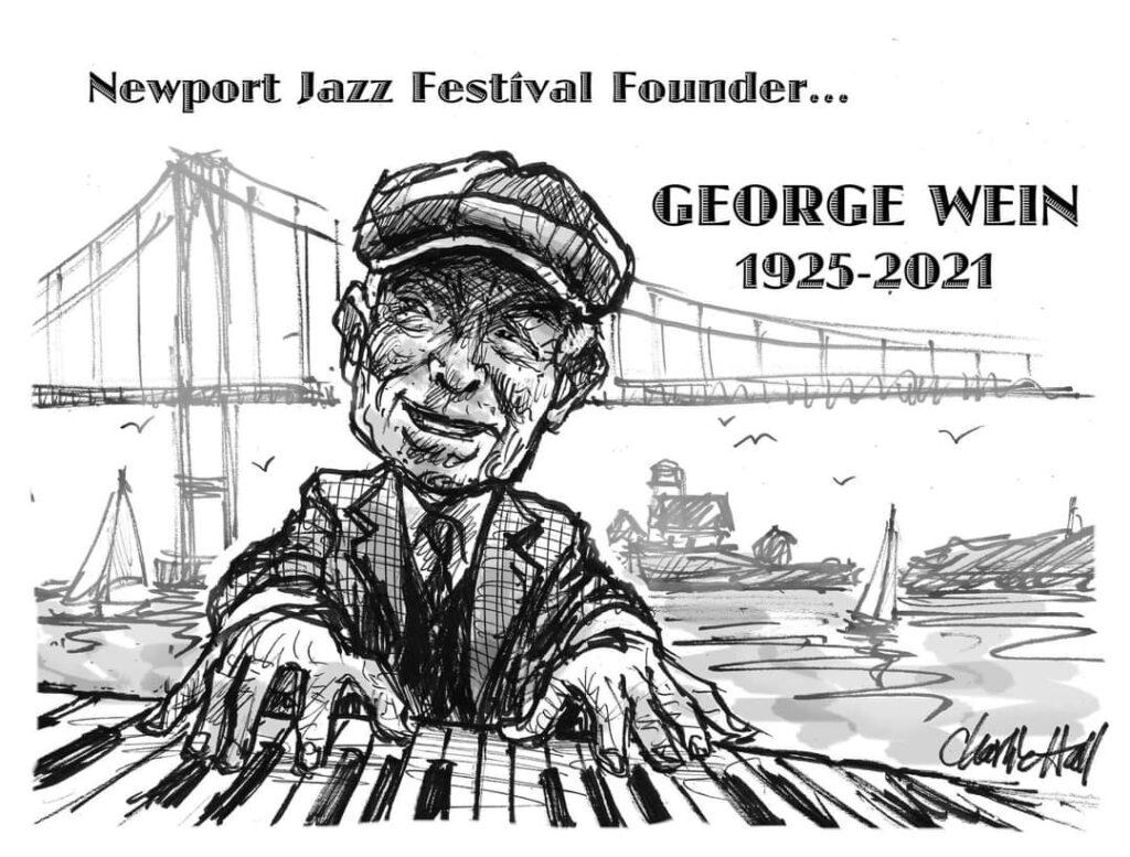 George Wein, art by Charlie Hall